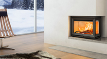 Example of fireplace enclosure installation with SKAMOTEC 225 building board from Skamol